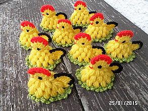 Dekorácie - kuriatka žlté malé :) - 4990754_