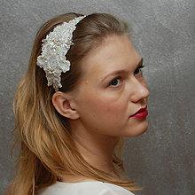 Ozdoby do vlasov - Wedding Lace Collection ... čelenka - 4997649_