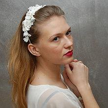 Ozdoby do vlasov - Wedding Lace Collection ... čelenka - 5002586_