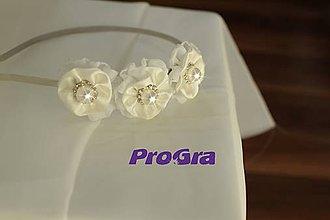 Ozdoby do vlasov - Perličková - svadobná čelenka - 5004265_