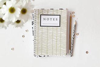 Papiernictvo - notes // zlatý vzor - 5004547_