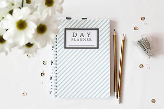 Papiernictvo - day planner // mint stripes - 5006658_