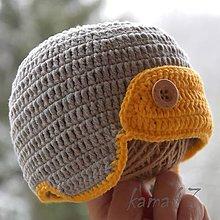 Detské čiapky - Prechodná čiapočka... letecká I. - 5011954_