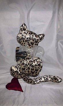 Dekorácie - šitá tigrovaná mačka - 5034646_