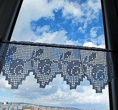 Úžitkový textil - vitrážka s ružičkami - 5055402_