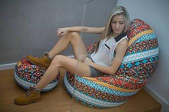 Nábytok - Dizajnový sedací vak TAKOY 2XL+podnožka zdarma poťah 124 - 5060789_