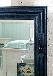 Zrkadlá - Zrkadlo s vešiačikom CAROLINA DARK BLUE XL - 5059099_