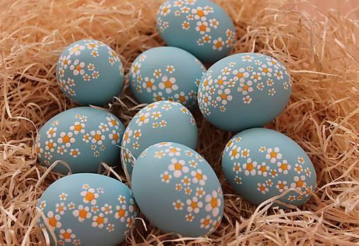 veľkonočné vajíčka modré