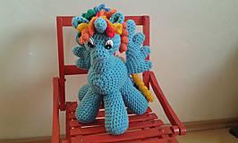 Hračky - modrý dúhový - 5067161_