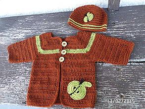 Detské súpravy - čokoládkovo Jabĺčkový Set - 5077621_
