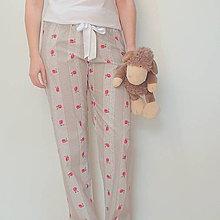 Pyžamy a župany - Pyžamové kalhoty s krajkovým proužkem - 5087011_