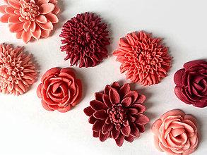 Drobnosti - Kvety na cupcakes 8 ks - 5096045_