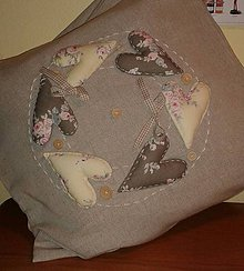 Úžitkový textil - Romantický vankúš - 5097535_