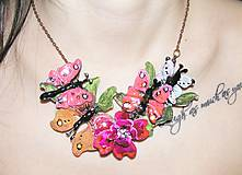 Náhrdelníky - motýle na lúke II - 5111216_