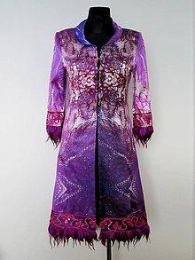 Kabáty - Exkluzívny hodvábny kabát - 5129517_
