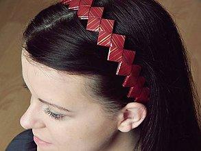 Ozdoby do vlasov - Čelenka - bordó - 5140391_