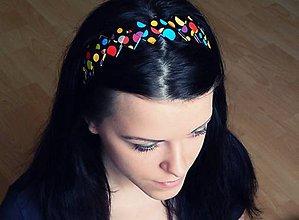 Ozdoby do vlasov - Čelenka - farebné bodky - 5140405_