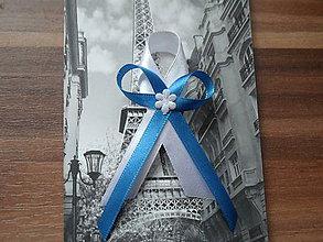 Pierka - Bielo - modrá jednoduchosť - 5139701_
