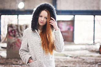 Kabáty - Kabát s efektom čipky - 5164946_