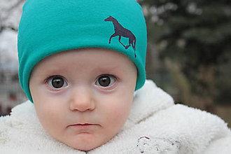 Detské čiapky - S koníkmi-obojstranná - 5161449_