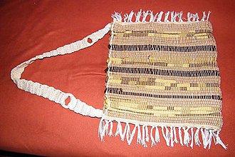 Kabelky - Tkaná taška žltohnedá 1 - 5170010_