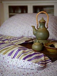 Úžitkový textil - Pruhy / kytičky - 5175526_