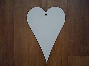 Materiál ručne robený - Srdce z dreva 20 x 13,5 cm - 5182658_