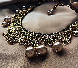 Náhrdelníky - Náhrdelník (zlatá/perly) - 5202853_