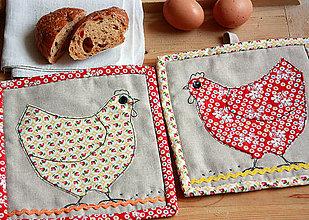 Úžitkový textil - Chňapky do kuchyne - Sliepočky - 5204041_