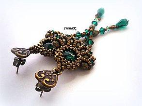 Náušnice - Smaragdový svet III. - 5207495_