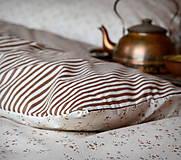 Úžitkový textil - Kytičky / proužky - 5219794_