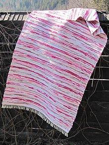 Úžitkový textil - koberec ružovo bordový 1 x 2 m - 5222543_