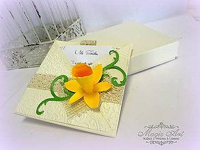 Papiernictvo - Narcis plný nehy... - 5221155_