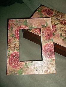 Rámiky - babičkine ruže... - 5232420_