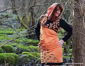 Šaty - Šaty úpletové šité, farbené a maľované BUBLINKY - 5237630_