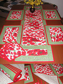 Úžitkový textil - maky na stole - 5257509_