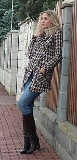 Kabáty - Šedobéžový vlněný kardigan - 5266455_