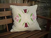 Úžitkový textil - Vidiecky háčkovaný vankúš - 5265968_