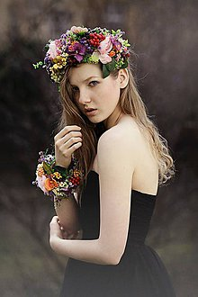 Ozdoby do vlasov - Set Queen of Flowers - 5276846_