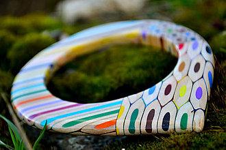 Náramky - náramok z farbičiek s prierezmi - 5283976_