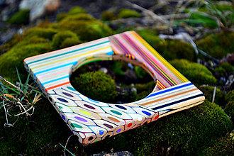 Náramky - náramok z farbičiek s prierezmi - 5284775_