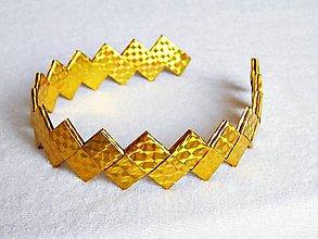 Ozdoby do vlasov - Čelenka - zlatíčko - 5291381_
