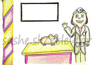 Papiernictvo - Svetový veterinárny deň - pohľadnica (škrečok) - 5299072_