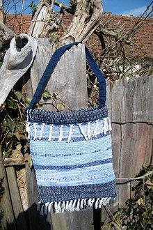 Kabelky - Modrá tkaná taška - 5304999_