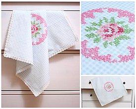 Úžitkový textil - Vyšívaný obrus - 5312855_