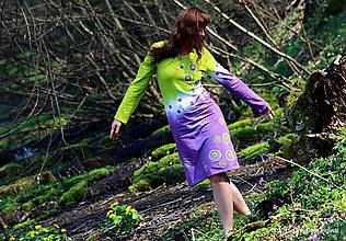 Šaty - Šaty úpletové, šité, farbené a maľované Z MACHU A PAPRADIA - 5312509_