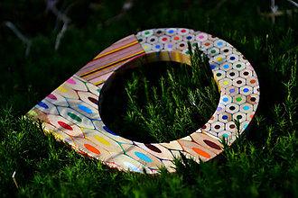 Náramky - Náramok z farbičiek s prierezmi - 5312069_