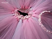 Detské oblečenie - Magnólia - ružová tutu suknička + čelenka - 5321630_