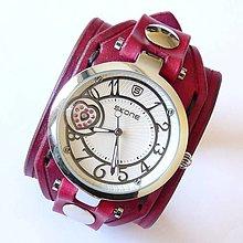 Náramky - Dámske bordovočervené hodinky - 5324277_