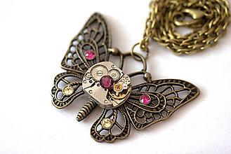 Náhrdelníky - Motýlik - 5325908_